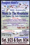 Prospect Hotel's Music in the Mountains -Canceled!