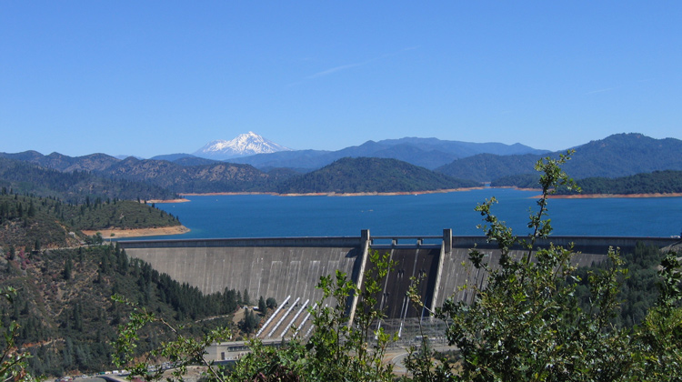 lake shasta dam, shasta county