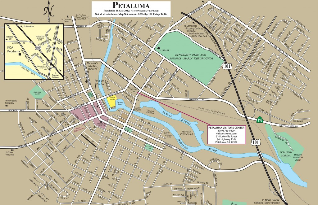 Petaluma map 101 things to do wine country for Beer craft rohnert park