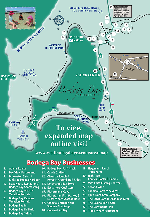 Bodega Bay Chamber Of Commerce 101 Things To Do Wine Country