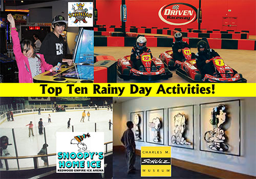 Top Ten Rainy Day Activities