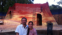 """Philip and Sarah at Marin Shakespeare's production of """"Don Quixote"""""""