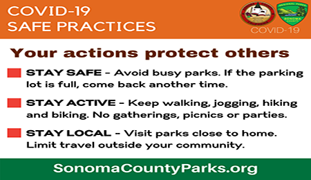 Sonoma County Parks – Covid-19 Safe Practices